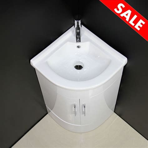 vanity unit cabinet bathroom corner basin sink cloakroom