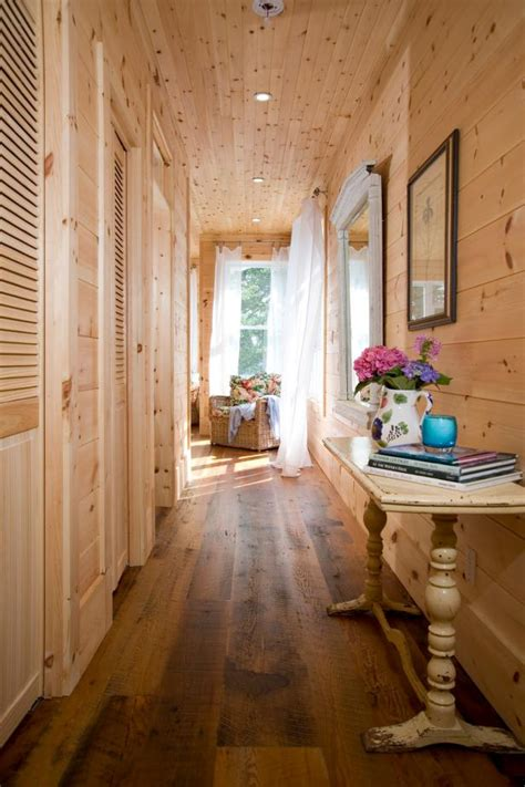 master bedroom entry  pine shiplap walls hgtv
