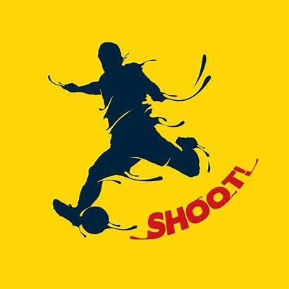 Vector Football Shoot Splash Soccer Ball Shooting