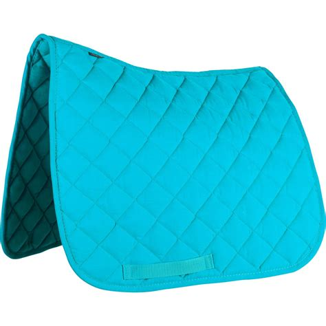 tapis de selle 233 quitation poney shetland 100 p turquoise fouganza