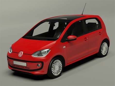 volkswagen up 5 door volkswagen up 5 door 2013 3d model max obj 3ds fbx