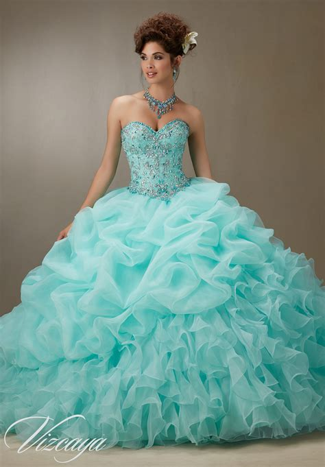 beaded bodice quinceanera dress style  morilee