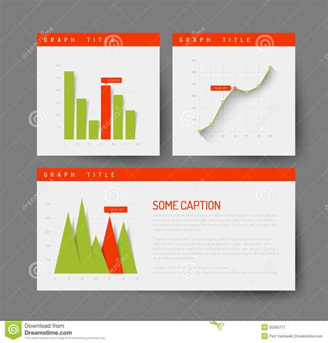 simple infographic dashboard template stock vector image