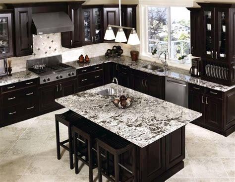 light colored tile backsplash ideas  dark cabinets luxury white spring granite countertop