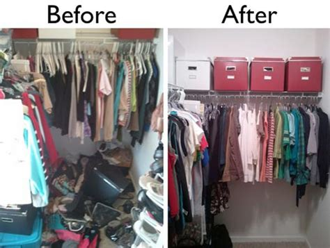 closet decluttering before and after pictures home