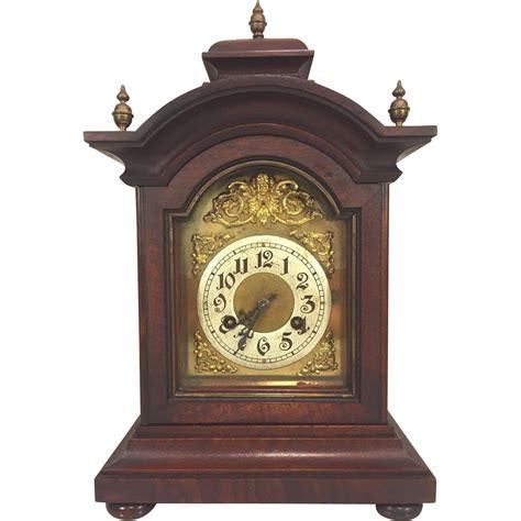 antique junghans bracket clock w brass finials mahogany