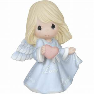 "Religious Gifts, ""Love Angel"", Bisque Porcelain Figurine"