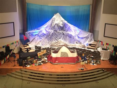 Decorating Ideas For Everest Vbs by Everest Vbs Stage Vbs Everest Vbs Vbs Crafts Vbs 2016