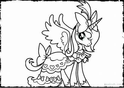 Coloring Unicorn Pages Princess Unicor Printable Getcolorings