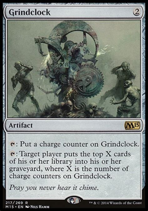 magic the gathering mtg card review grindclock from