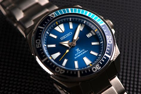 Blue Dive Watches - review seiko quot samurai quot blue lagoon dive gear patrol
