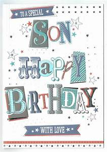 Son Birthday Card To A Special Son With Love With Love