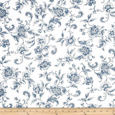 toile de jouy cotton quilt bedding toile de jouy quilt 108 quot wide whisper print floral toile blue discount