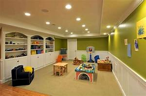 16 creative basement ceiling ideas for your basement for Basement ideas for kids