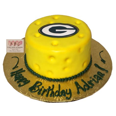 green bay packer cheese head cake abc cake shop