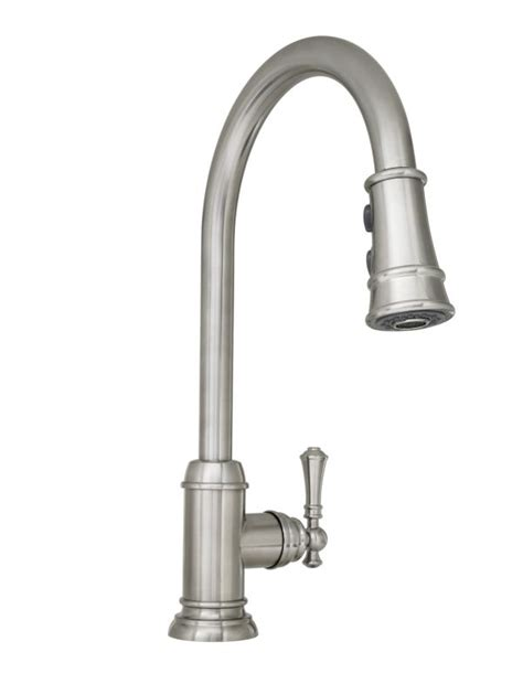 mirabelle kitchen faucets mirabelle mirxcam100ss stainless steel amberley pullout spray kitchen faucet with high arch