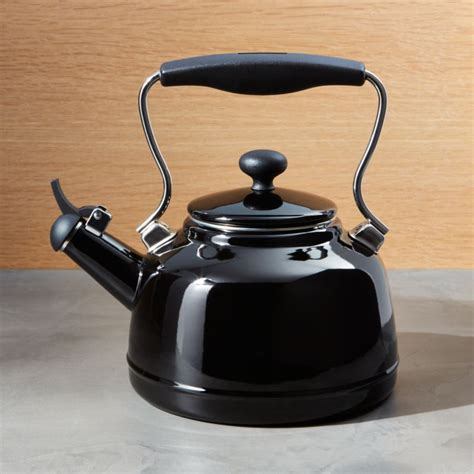Kitchen Living Tea Kettle by Chantal 174 Vintage Black Whistling Tea Kettle Crate And