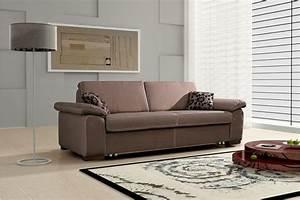 Canapé Habitat Convertible : photos canap marron convertible ~ Teatrodelosmanantiales.com Idées de Décoration