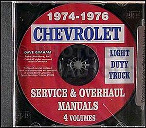 1974 1975 1976 Chevy Truck Shop Manual Cd Pickup Blazer