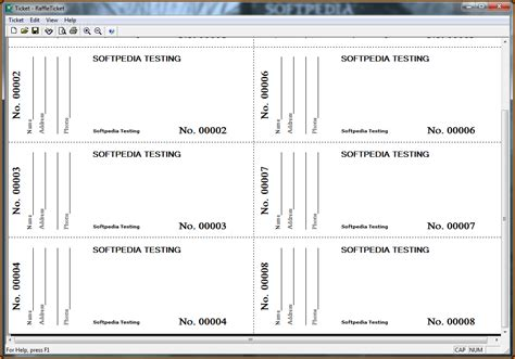 ticket template microsoft word 2007 numbered raffle ticket template word