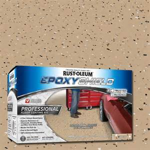 rust oleum epoxyshield 2 gal dunes semi gloss professional floor coating kit 238466 the
