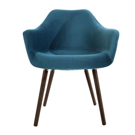 chaise bleu canard chaise anssen en velours bleu canard commandez les