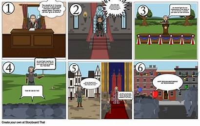 Comic Mexican Revolution Causes Strip Storyboard Core