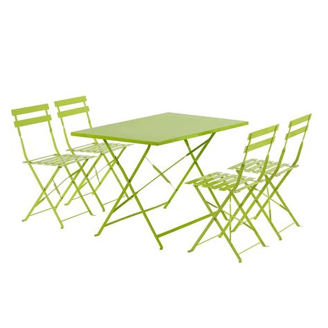 table 6 chaises emejing salon de jardin metal vert pictures awesome