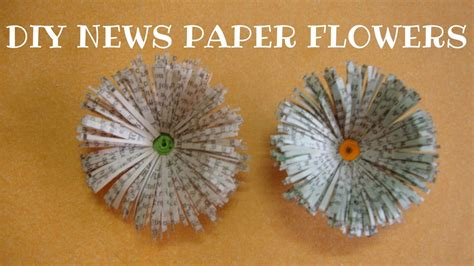 newspaper flowersdaisies paper craft ideas  kids