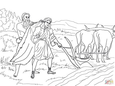 Elisha And Widow Coloring Page Pages
