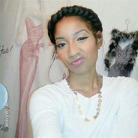 milk braids hair natural hair styles braided bun