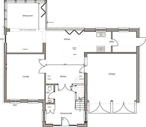 floor plans to build a new house bungalow converted into 4 bedroom house ground floor james matley architect