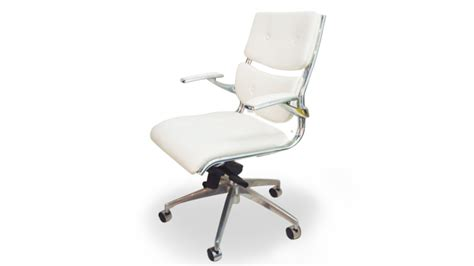 fauteuil bureau blanc chaises mobilier cuir