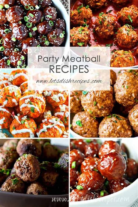 party meatball recipes party food meatballs party