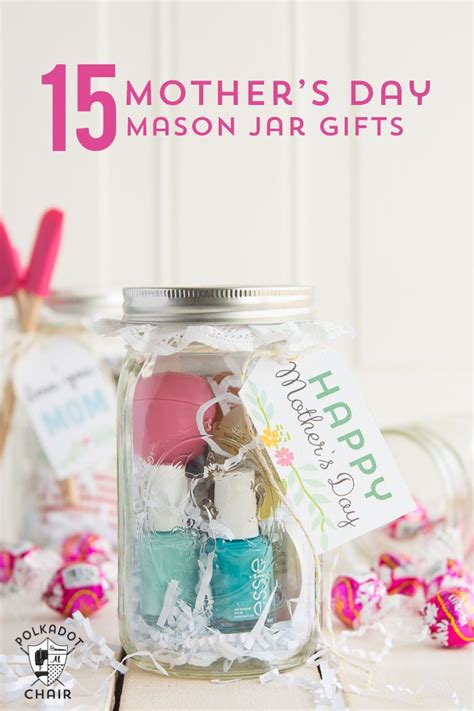 minute mothers day gift ideas cute mason jar gifts