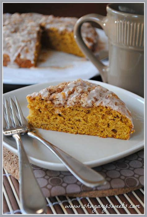 pumpkin coffee cake  cinnamon struesel shugary sweets