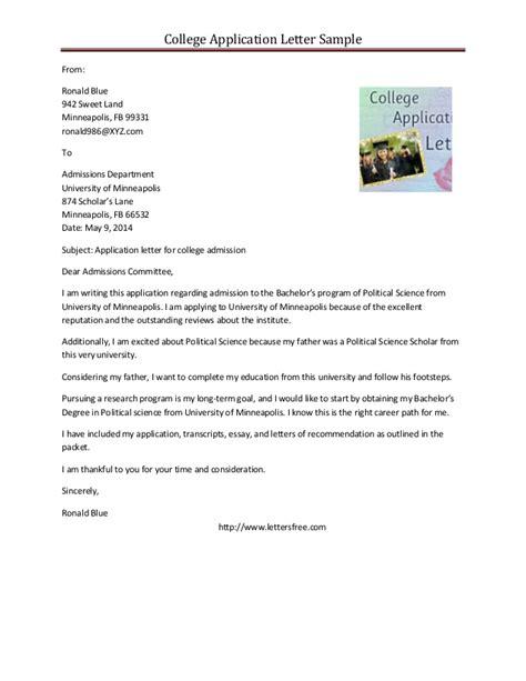 write  letter  university  admission sample