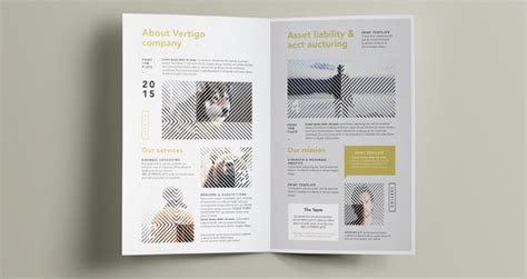vertigo bi fold brochure template brochure templates