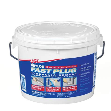 how to paint a l drylok 4 lb fast plug hydraulic cement 00917 the home depot