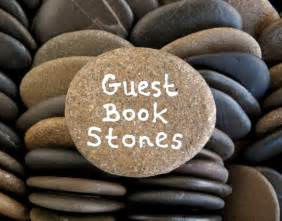 signing stones guest book 80 flat rocks wedding stones guest book stones flat by