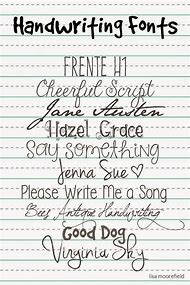 Best 25 Ideas About Handwriting Fonts
