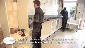 installer une cuisine et un plan de travail video With installer plan de travail cuisine