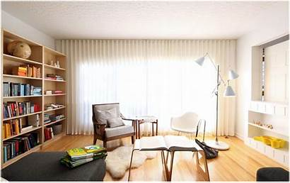 Study Library Modern Background Drapes Living Wallpapers