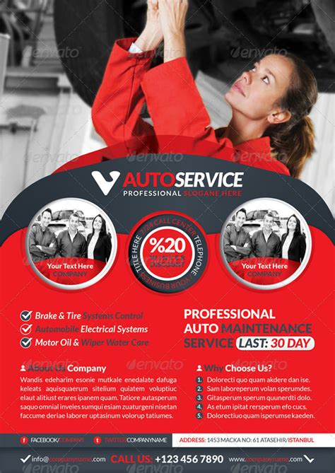 Car Service Company by 20 Best Premium Printable Car Template