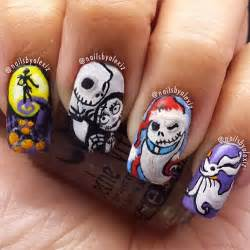 Nightmare Before Christmas Halloween Nail Art