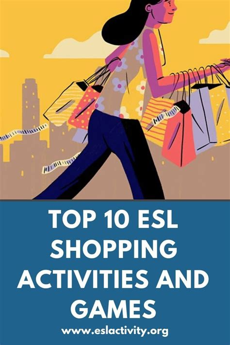 esl shopping activities games worksheets lesson plans