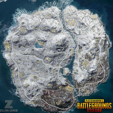 map information pubg mobile zilliongamer