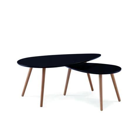 Table Gigogne Scandinave Table Basse Scandinave Noir Avesta Achat Vente Table Basse Table Basse Scandinave Noir