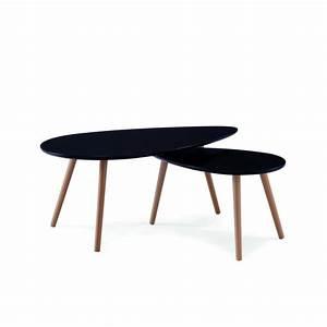 Table Basse Noir : table basse scandinave noir avesta achat vente table basse table basse scandinave noir ~ Teatrodelosmanantiales.com Idées de Décoration