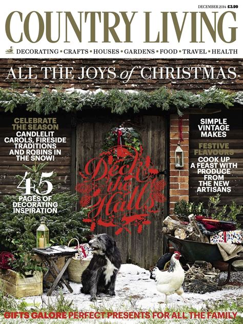 Country Magazine by Country Living Magazine December 2014 Cover Luxury